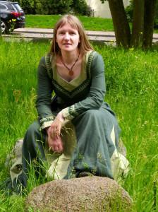 Daniela Bach in Mittelalterkleid
