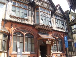Fachwerkhaus in Canterbury mit drei Giebeln