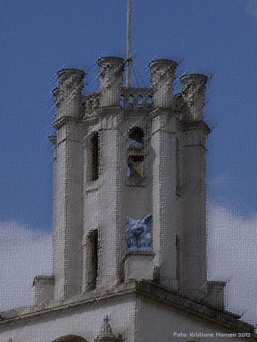 Wasserspeier Gondolin auf der Kirche St John in the East in London